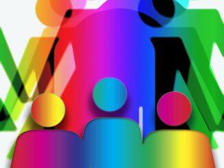 Die individuelle Eigenschutzzeit der Haut dargestellt durch schematische Personen in verschiedenen Farben