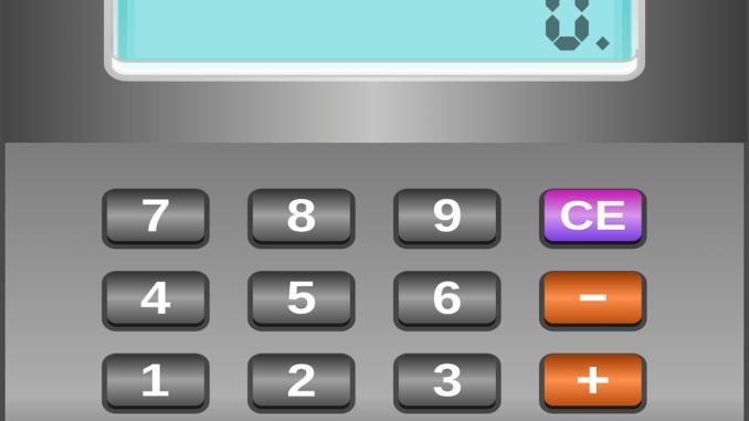 Darstellung eines Taschenrechners den man evtl. zur Berechnung der Verlängerung der Eigenschutzzeit durch den LSF einsetzen kann.