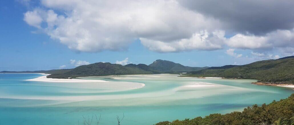 Whitsunday island intensive UV Strahlung