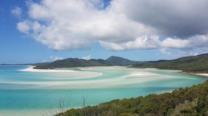 Whitsunday island intensive UV Strahlung