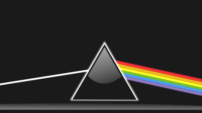 Lichtbrechung an einem Prisma